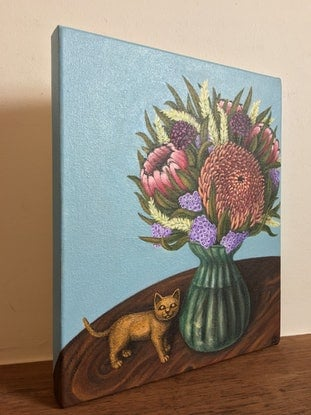 (CreativeWork) The Gifts by Laura Suizu. Acrylic Paint. Shop online at Bluethumb.