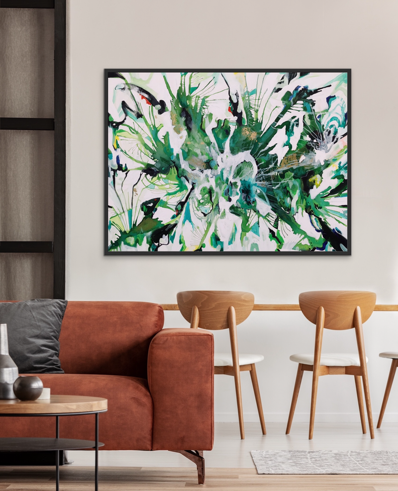 (CreativeWork) SPACE BETWEEN / COMMISSION  by Uschi Novinc. Acrylic Paint. Shop online at Bluethumb.