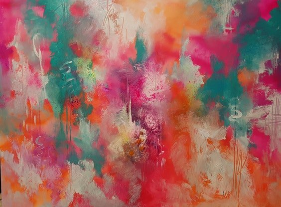 (CreativeWork) Festive by Catherine Farren-Price. Acrylic Paint. Shop online at Bluethumb.