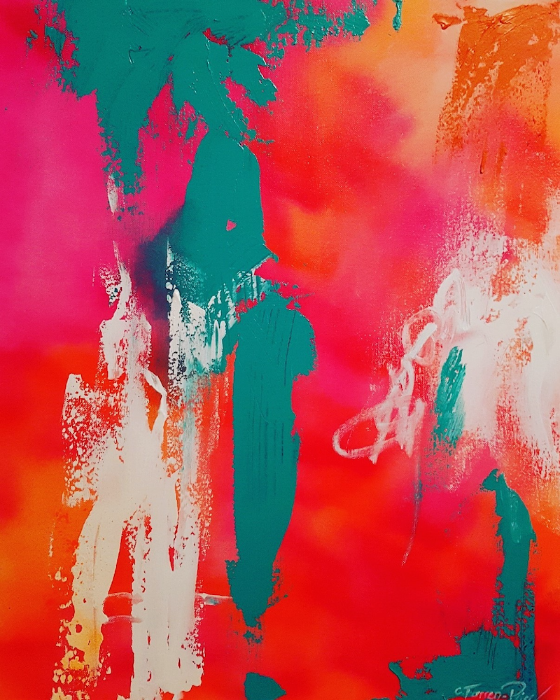 (CreativeWork) Partytime by Catherine Farren-Price. Acrylic Paint. Shop online at Bluethumb.