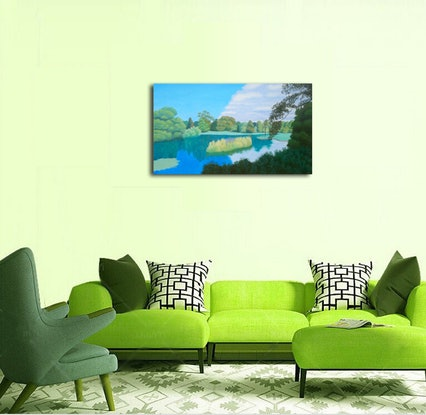 (CreativeWork) The Radiant Island by Geoff Harrison. Oil Paint. Shop online at Bluethumb.