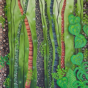 (CreativeWork) Wild Land by Ornella Imber. acrylic-painting. Shop online at Bluethumb.