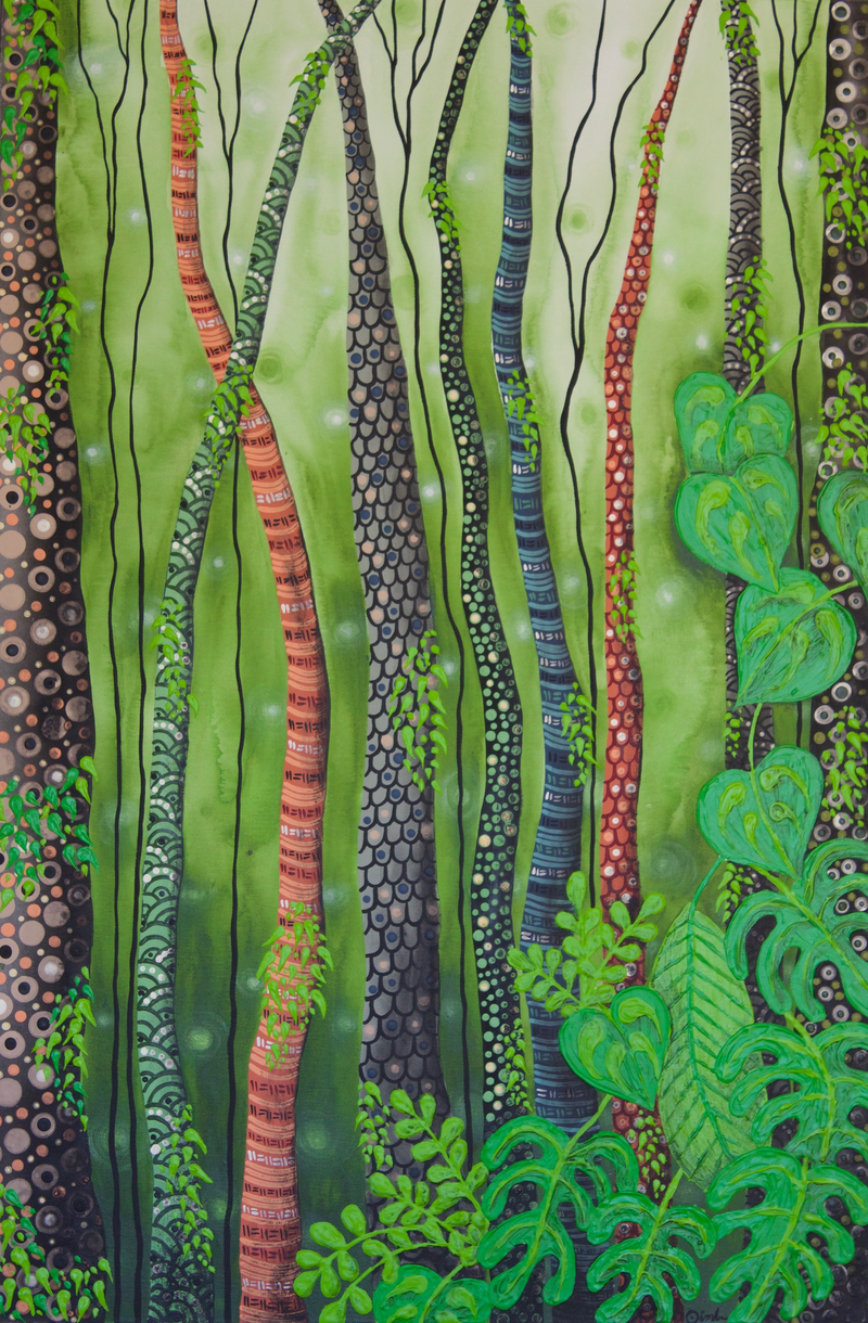 (CreativeWork) Wild Land by Ornella Imber. Acrylic Paint. Shop online at Bluethumb.