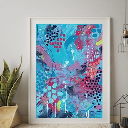 (CreativeWork) Go With The Flow by Cassy Turnbull. Mixed Media. Shop online at Bluethumb.