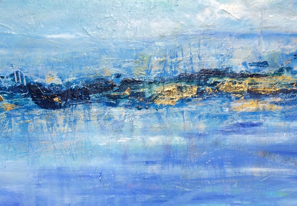 (CreativeWork) Golden light by sue bannister. Oil Paint. Shop online at Bluethumb.