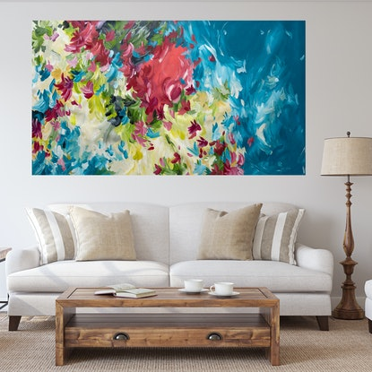 (CreativeWork) Piece of my Heart by Amber Gittins. Acrylic Paint. Shop online at Bluethumb.