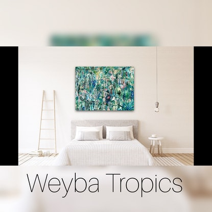 (CreativeWork) Weyba Tropics Fine Art Canvas Print 122x91 2/25 Ed. 2 of 25 by Carley Bourne. Print. Shop online at Bluethumb.