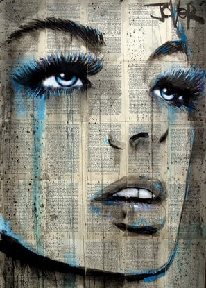 (CreativeWork) BLUE ALIVE by loui jover. Drawings. Shop online at Bluethumb.