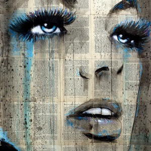 (CreativeWork) BLUE ALIVE by loui jover. drawing. Shop online at Bluethumb.