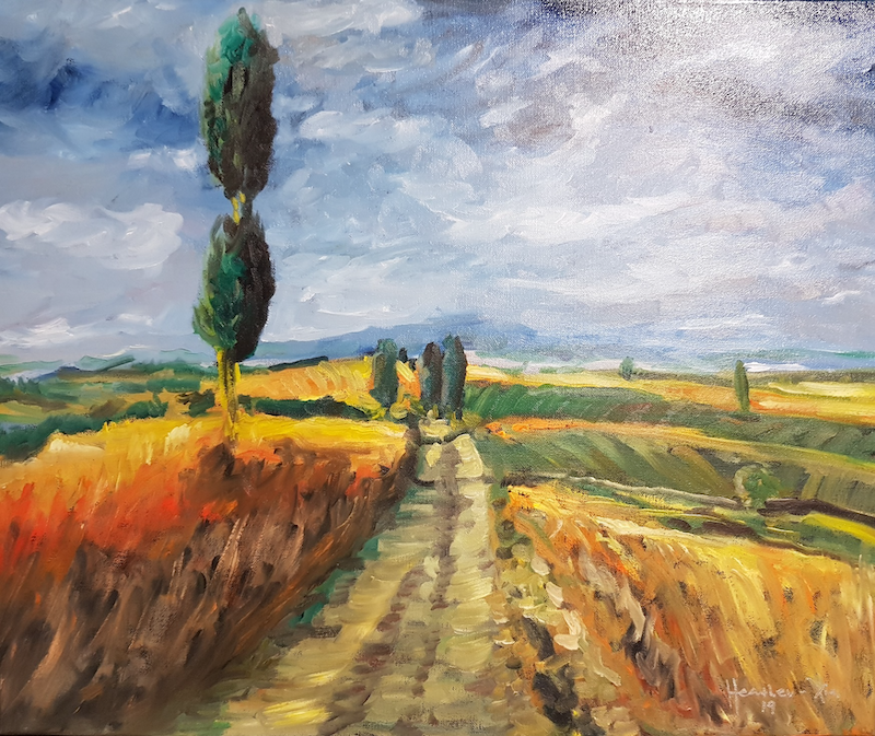 (CreativeWork) Tuscan Plain by ALAN HEATHER-XIA. Oil Paint. Shop online at Bluethumb.