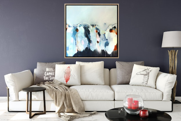 (CreativeWork) Above and Beyond by Brenda Meynell. Acrylic Paint. Shop online at Bluethumb.
