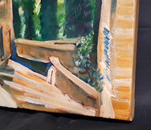 (CreativeWork) Tuscan Hillside View by ALAN HEATHER-XIA. Oil Paint. Shop online at Bluethumb.