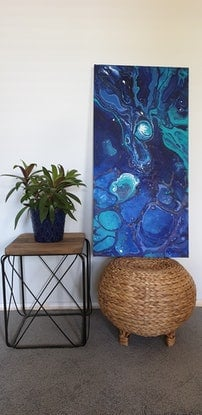 (CreativeWork) Night Sky  by Fleur Louise Belle. Acrylic Paint. Shop online at Bluethumb.