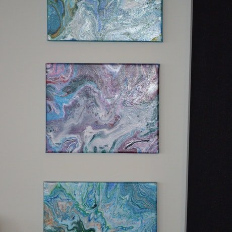 (CreativeWork) The Shore - Series of 3 by Jennifer Lacey. Acrylic Paint. Shop online at Bluethumb.
