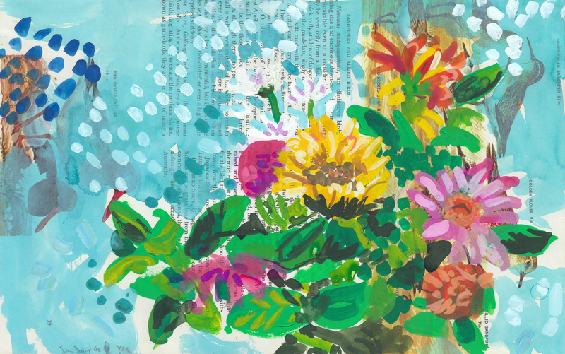 (CreativeWork) Flowers by John Douglas. Watercolour Paint. Shop online at Bluethumb.
