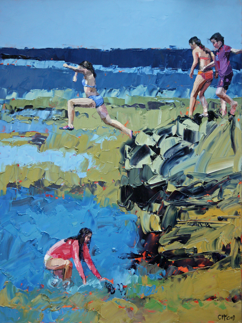 (CreativeWork) Rockpool Jumping  - Limited Edition Giclee Art Print   Ed. 1 of 100 by Claire McCall. Print. Shop online at Bluethumb.