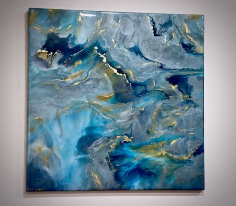 (CreativeWork) 'Mystify' by Kim Switzer. Resin. Shop online at Bluethumb.
