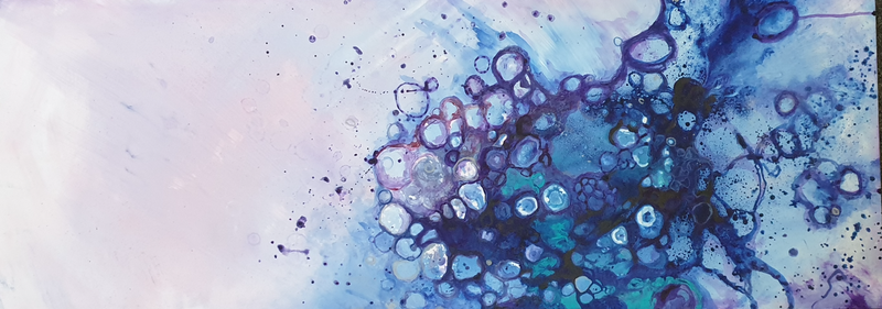 (CreativeWork) Rockpool by Fleur Louise Belle. Acrylic Paint. Shop online at Bluethumb.