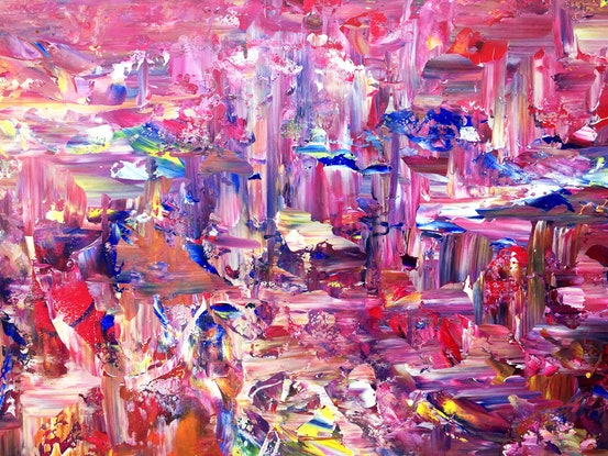 (CreativeWork) City Dreaming by Estelle Asmodelle. Acrylic Paint. Shop online at Bluethumb.