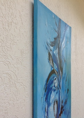 (CreativeWork) A Snake by Renate Voigt. Acrylic Paint. Shop online at Bluethumb.