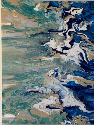 (CreativeWork) As the tide turns by Reba Adam. Acrylic Paint. Shop online at Bluethumb.