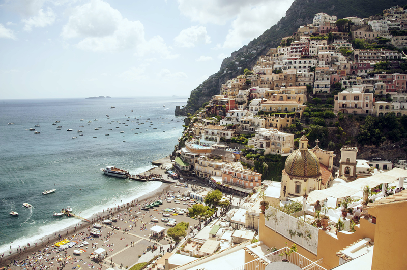 (CreativeWork) Positano Beach by GRACE COSTA. photograph. Shop online at Bluethumb.