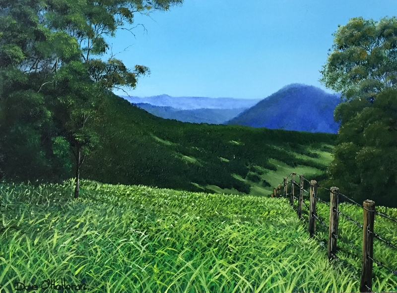 (CreativeWork) A Mount Glorious View by David O'Halloran. Oil Paint. Shop online at Bluethumb.