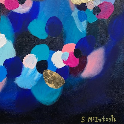 (CreativeWork) Happy Days  by Sarah McIntosh. Acrylic Paint. Shop online at Bluethumb.