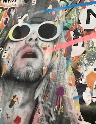 (CreativeWork) Street Icon 157 - Kurt Cobain  by Cold Ghost. Mixed Media. Shop online at Bluethumb.