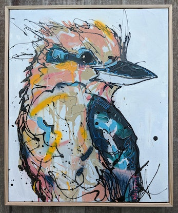 (CreativeWork) Spring Morning Stare by Aidan Weichard. Mixed Media. Shop online at Bluethumb.