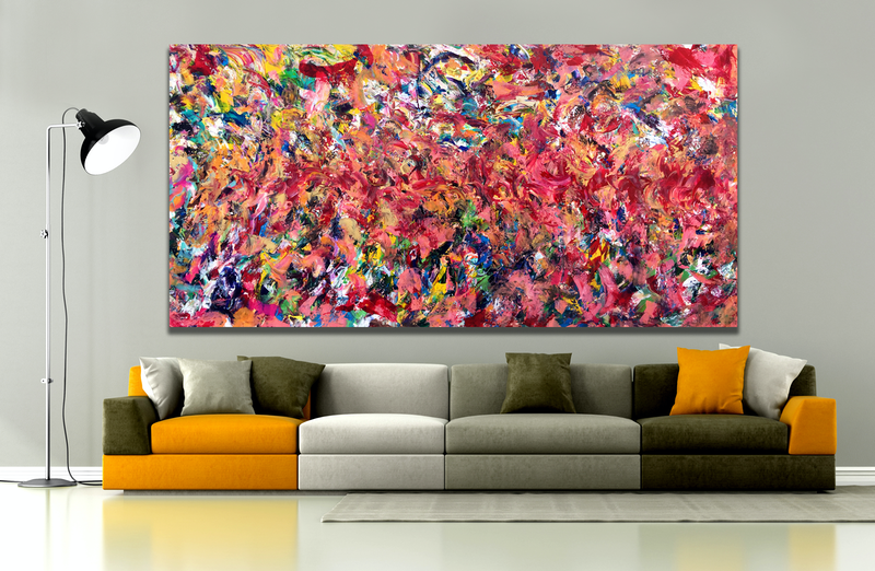 (CreativeWork) Untitled 63 by Estelle Asmodelle. Acrylic Paint. Shop online at Bluethumb.