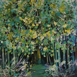 (CreativeWork) Love our Trees by Maria Cross. acrylic-painting. Shop online at Bluethumb.