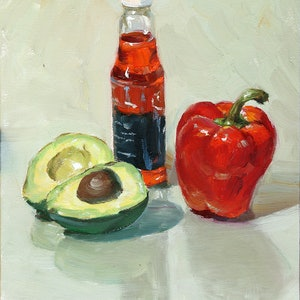 (CreativeWork) Still life M83 by Yuan Fu. oil-painting. Shop online at Bluethumb.