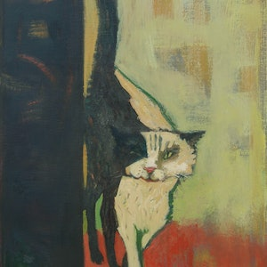 (CreativeWork) Did I miss my breakfast? by Tetyana Khytko. oil-painting. Shop online at Bluethumb.