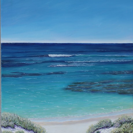 (CreativeWork) Rottnest Island - Framed  by Deb Clancy. Acrylic Paint. Shop online at Bluethumb.