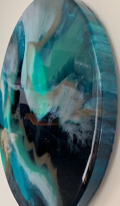 (CreativeWork) Arctic Flicker by Tracy Stephenson. Resin. Shop online at Bluethumb.