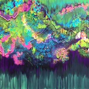 (CreativeWork) Botanic Garden by Magdalena Knight. acrylic-painting. Shop online at Bluethumb.