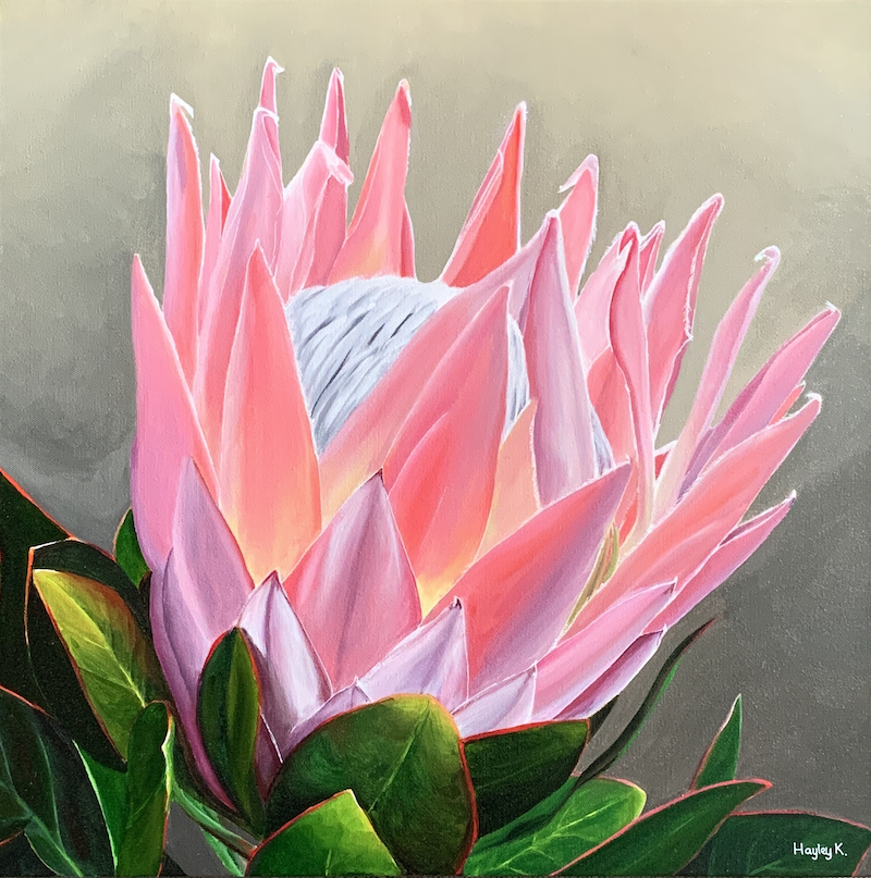 (CreativeWork) Radiant  by Hayley Kruger. Acrylic Paint. Shop online at Bluethumb.