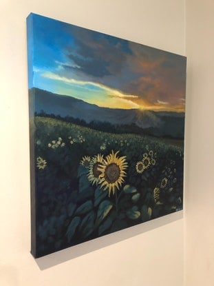 (CreativeWork) Sunflowers  by Priya Cox. Acrylic Paint. Shop online at Bluethumb.