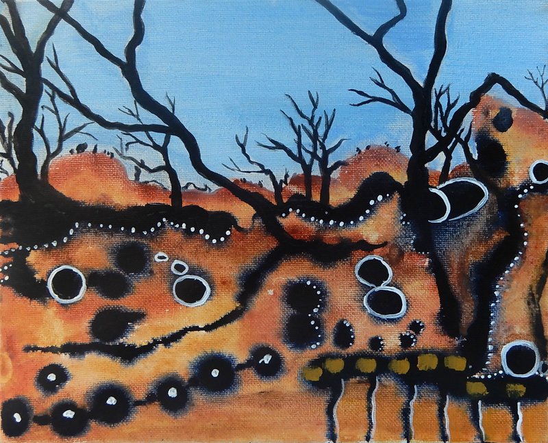 (CreativeWork) Oxidised 5 by Doodie Herman. Acrylic Paint. Shop online at Bluethumb.