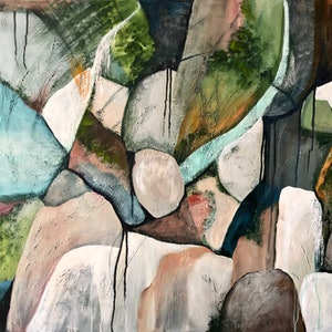 (CreativeWork) Rainforest Formation by Marion Rispin. arcylic-painting. Shop online at Bluethumb.