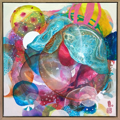 (CreativeWork) Macrocosmos by Amanda Krantz. Mixed Media. Shop online at Bluethumb.