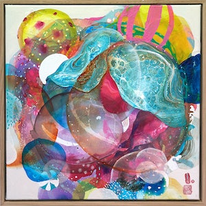 (CreativeWork) Macrocosmos by Amanda Krantz. mixed-media. Shop online at Bluethumb.