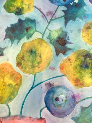 (CreativeWork) Bunches 3 by sue carter. Mixed Media. Shop online at Bluethumb.