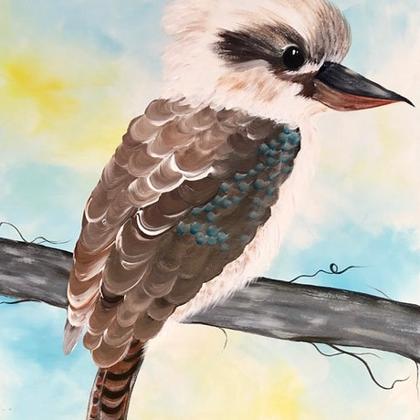 """(CreativeWork) """"Just a baby"""" limited edtition print of original painting Ed. 4 of 50 by Debra Ryan. Print. Shop online at Bluethumb."""