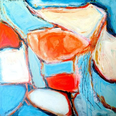 (CreativeWork) Saltwater Pools by Dianne Lofts-Taylor. Acrylic Paint. Shop online at Bluethumb.