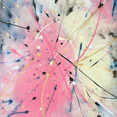 (CreativeWork) Milky Way by David Clare. Acrylic Paint. Shop online at Bluethumb.
