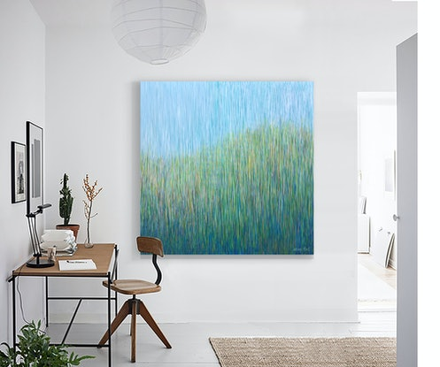 (CreativeWork) Paradise Hill.  Acrylic on canvas  ready to hang   by George Hall. #<Filter:0x00007f5997b29d08>. Shop online at Bluethumb.