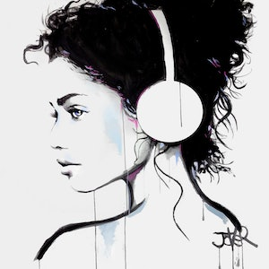 (CreativeWork) SOFT SOUNDS by loui jover. acrylic-painting. Shop online at Bluethumb.
