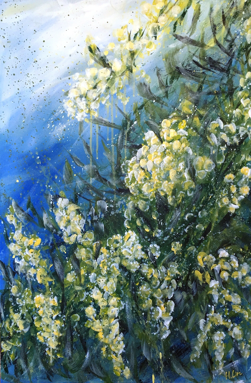 (CreativeWork) Your Heart Is My Home - Wattle Walk by HSIN LIN. Acrylic Paint. Shop online at Bluethumb.
